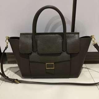 Charles & Keith Olive Sling Handbag
