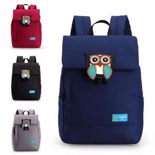 Superior Durable Canvas Cute Owl Logo Daily Backpack mc353