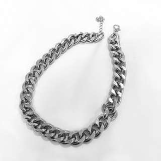 H&M Silver Thick Chain Necklace unisex