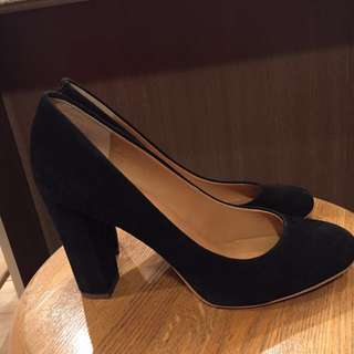 J CREW black suede high heels