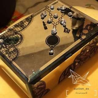 莎莎絕版瑰麗寶石鏡面飾物盒