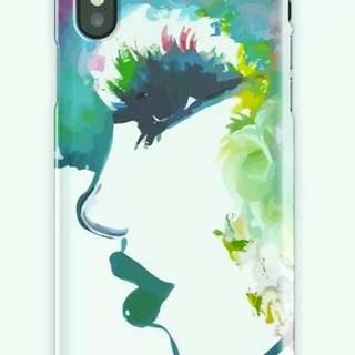 Afro hair woman portrait painting iPhone X case