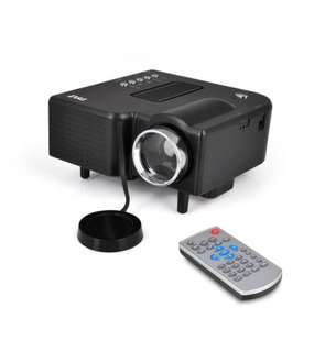 Pyle Full HD Video Projector - Built-in Speaker, LCD+LED HDMI