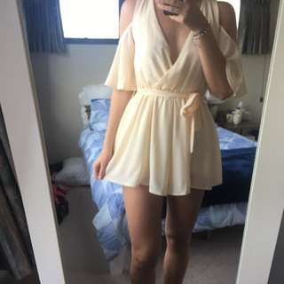 Cream playsuit