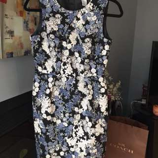 H&M Patterned Shift Dress (size 6/36) - LIKE NEW