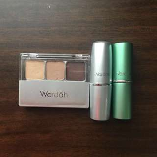 Reprice! WARDAH SET (EYESHADOW + 2 LIPSTICK)
