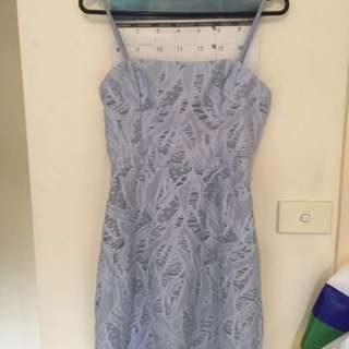 Kookai Villa Strappy Dress Blue Size 36