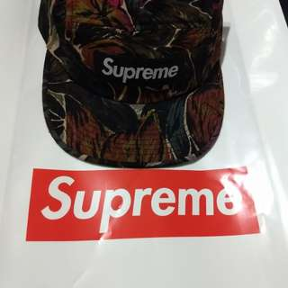 Supreme Painted Floral Camp Cap (Olive)
