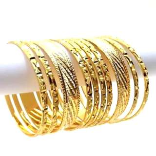 Beautiful Designer Gold Plated Bangles               (UP $28 Now $18)