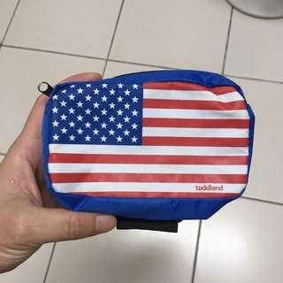Toddland USA 美國國旗 零錢包 小包 supreme參考