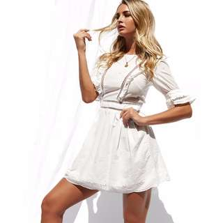Popcherry White Playsuit Size S $41.99 (RRP $59.99)