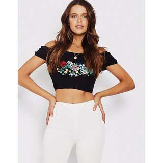 Popcherry Crop Top in Black Size M $31.99 (RRP $49.99)