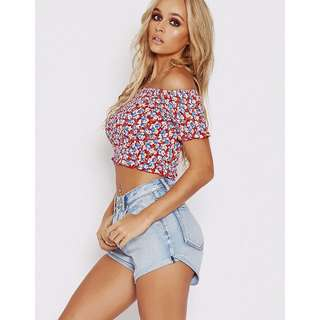 Popcherry Top in Red Size M $24.99 (RRP $34.99)