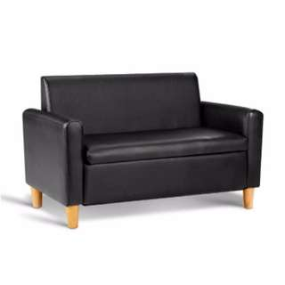 Kids Double Couch - Black SKU: KID-CHAIR-S2-BK
