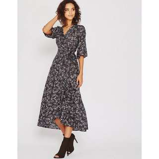 Popcherry Warp Maxi Dress Size S $41.99 (RRP $59.99)