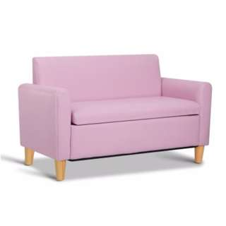 Kids Double Couch - Pink SKU: KID-CHAIR-S2-PK