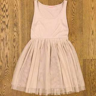 $100/2 jolly days nude dress