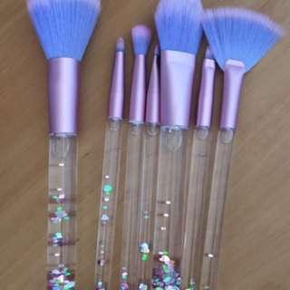 Limited edition lime crime aquarium makeup brushes