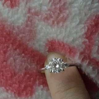 全新 高級仿鑽石戒指 60份 實物更火閃👍同真鑽無分別, 特平賣 非周生生 周大福可比😀  可睇片先至買😀