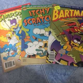 Bartman simpsons itchy and scratchy single comics