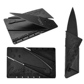 Credit Card Size Foldable Pocket Knife (Black)