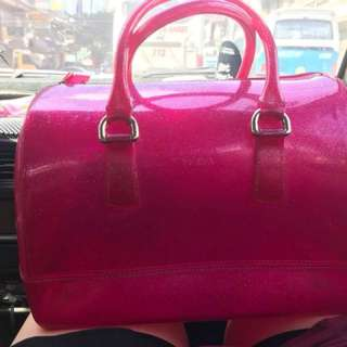 Authentic Furla candy jelly Bag