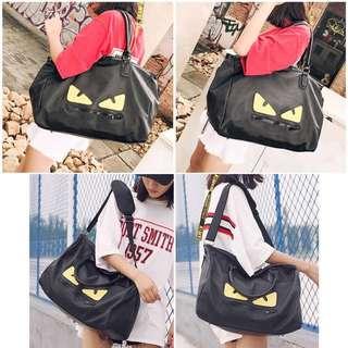 Monster Black Travel Duffel Bag