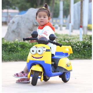 (NEW) Minion Electric Ride On Kids Scooter (Upgraded Version 10A Battery)