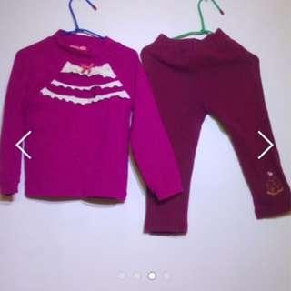 🚚 適合3-5歲女童-保暖輕便女童裝