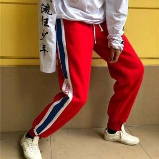 韓風運動刷毛長褲束腳褲