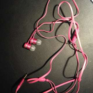 Pink Beat Earphones
