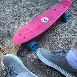 Pink and Blue cruiser board