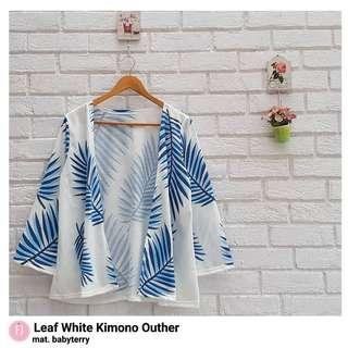 HR-Outwear Leaf Kimono Outher