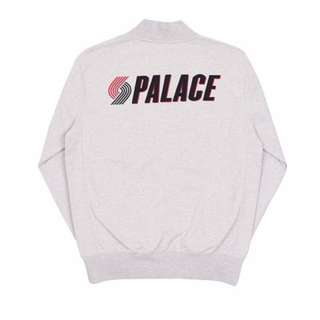 Palace Blazed Zip Bomber Grey