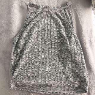 Grey crop top