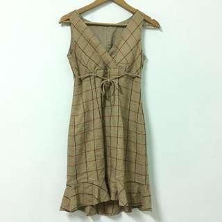 Vintage 古著格紋魚尾洋裝