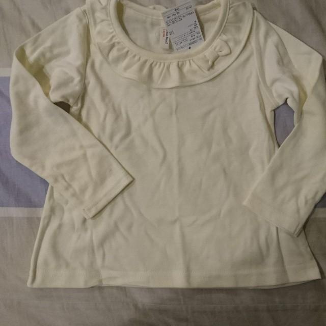 日本購入-兒童白上衣(100公分)