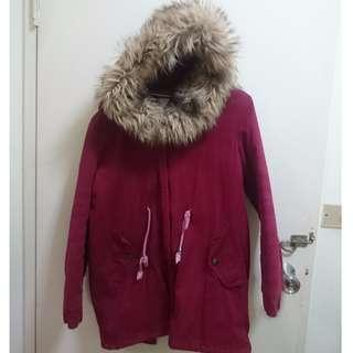免運 韓國 保暖 軍裝外套 厚外套 大衣 冬天外套