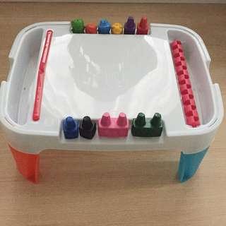 Toddler Drawing Table with Block Crayons