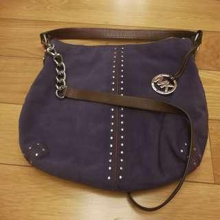 Michael Kors Purple Velvet Handbag