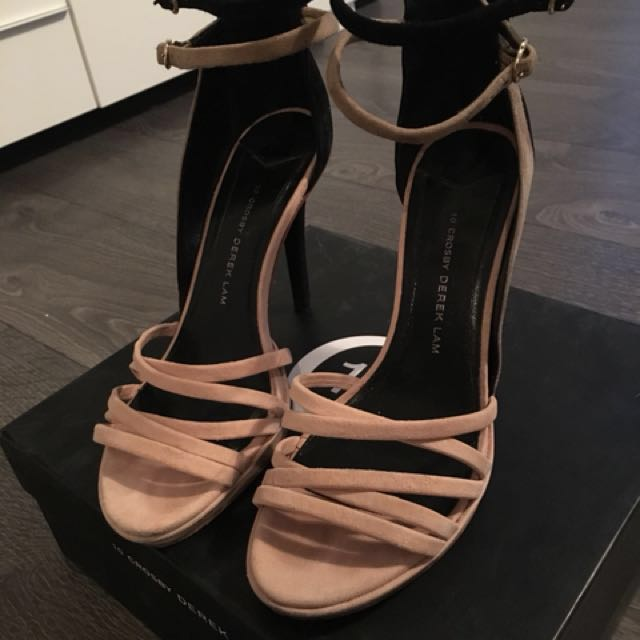 10 Crosby by Derek Lam Strappy Heels Shoes size 8.5 aritzia
