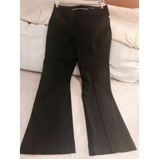 Club Monaco wide leg cuffed dress pants Sz 8 (fits like 6) NWT