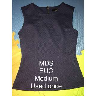 MDS sleeveless blouse
