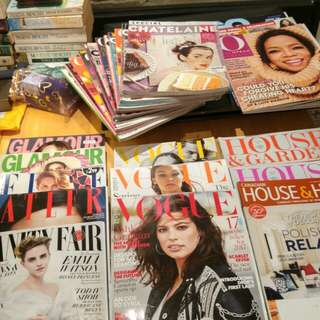 28 Magazines. Vogue, Chateleine, Oprah