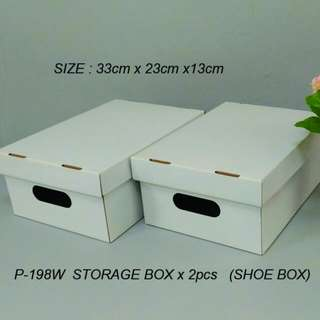 White color storage box 2pcs/Set
