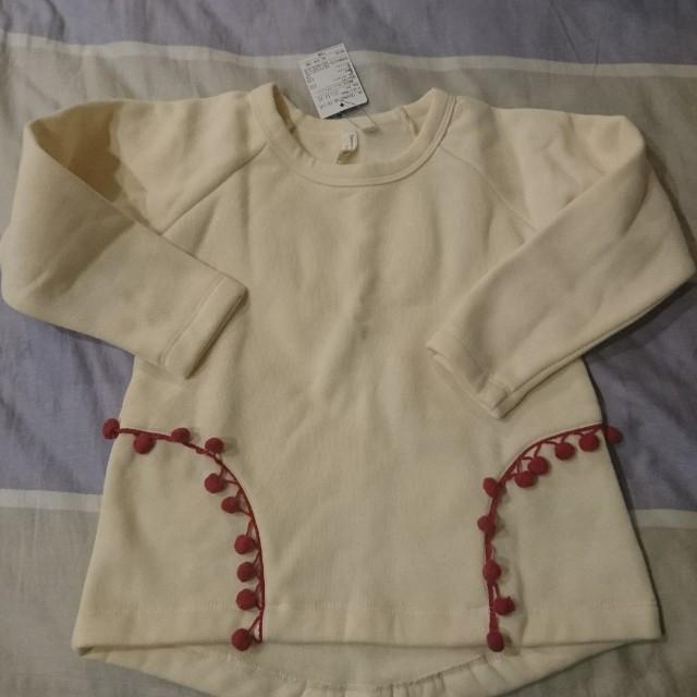 日本購入-白色球球上衣(110公分)