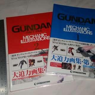絕版全新未開封Gundam Fact File Mechanic Illustrations 2本