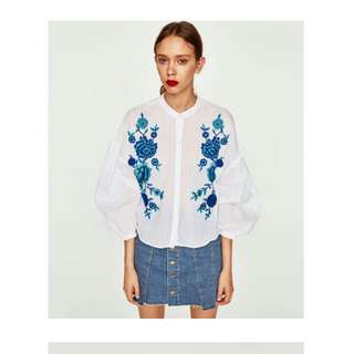 [Authentic] Zara Embroidered Top