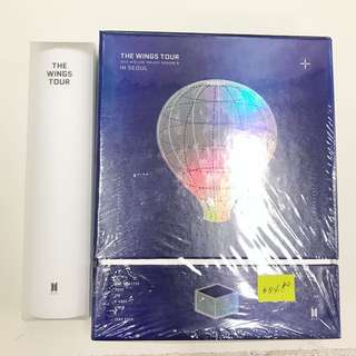 BTS THE WINGS TOUR TRILOGY EPISODE III IN SEOUL DVD WITH POSTER