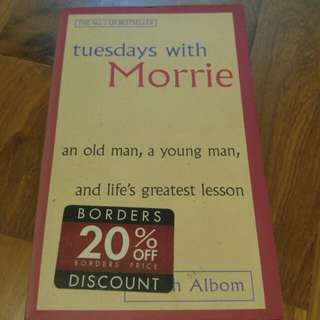 Tuesdays with Morrie by Mitch Albom (paperback)